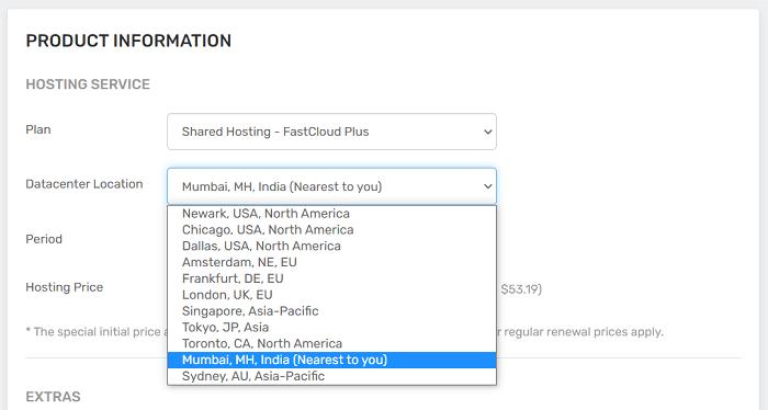 FastComet data centers