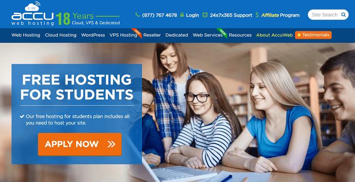 AccuWeb-free-student-hosting