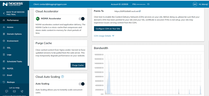 Nexcess-hosting-dashboard